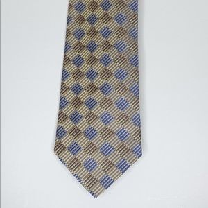 Joseph & Feiss Blue and Gold Necktie